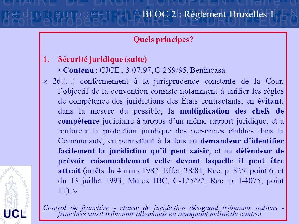 BLOC 2 : Règlement Bruxelles I