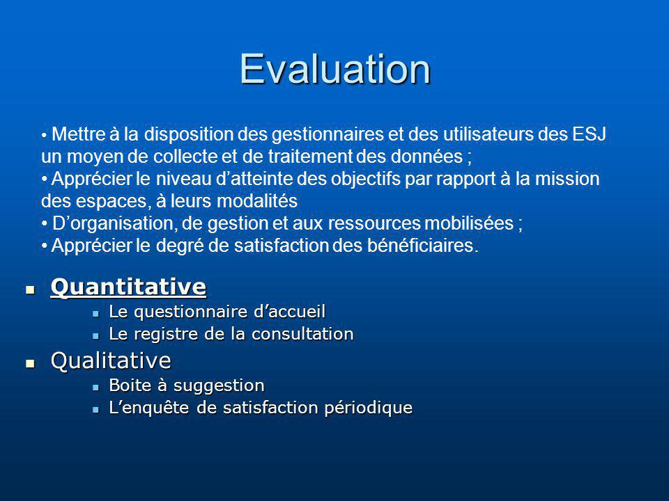Evaluation Quantitative Qualitative