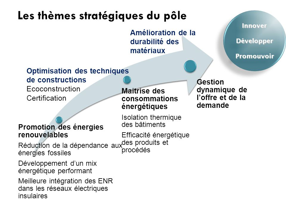 Les thèmes stratégiques du pôle