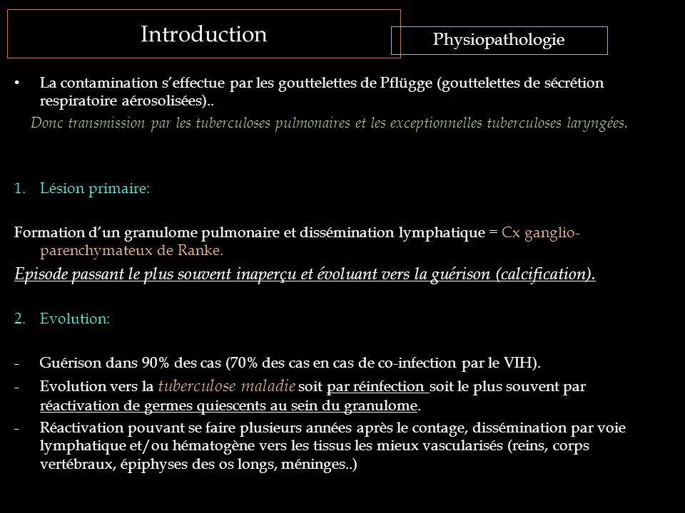 Introduction Physiopathologie