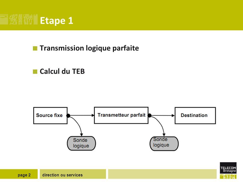 Etape 2 Faciliter la synchronisation émetteur-récepteur de notre système de transmission.