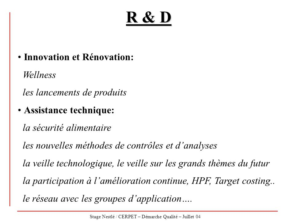 R & D Innovation et Rénovation: Wellness les lancements de produits