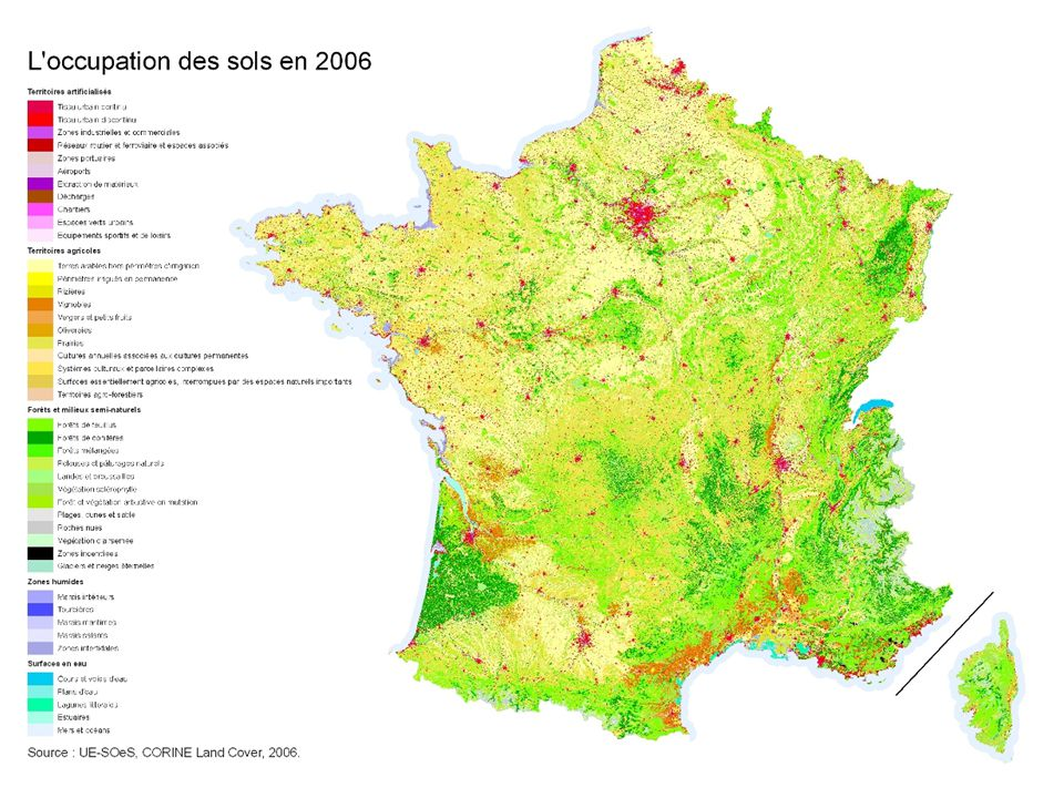Occupation des sols en France en 2006