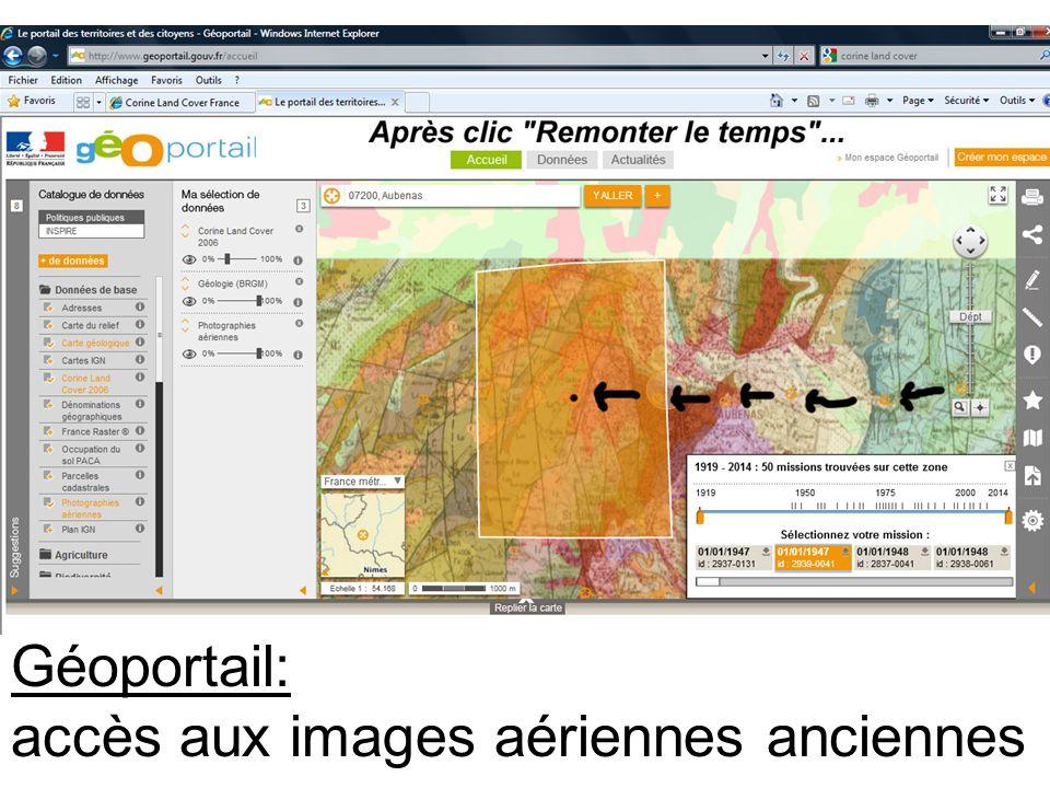 accès aux images aériennes anciennes