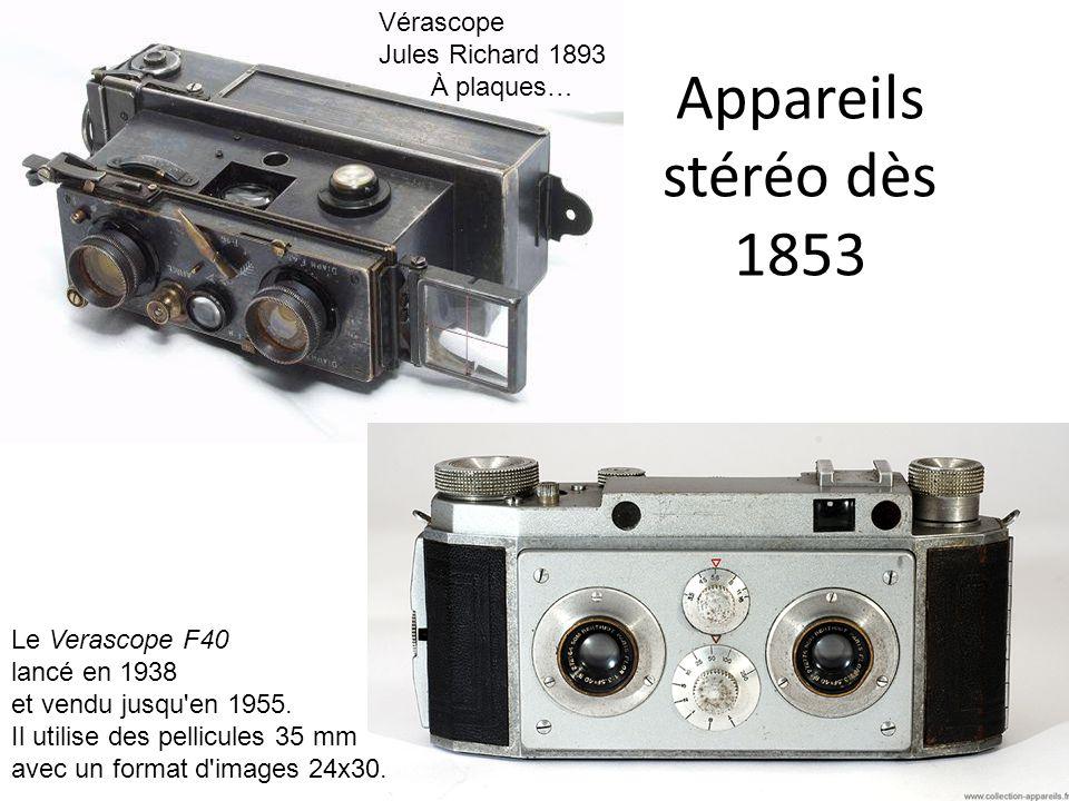 Appareils stéréo dès 1853 Vérascope Jules Richard 1893 À plaques…