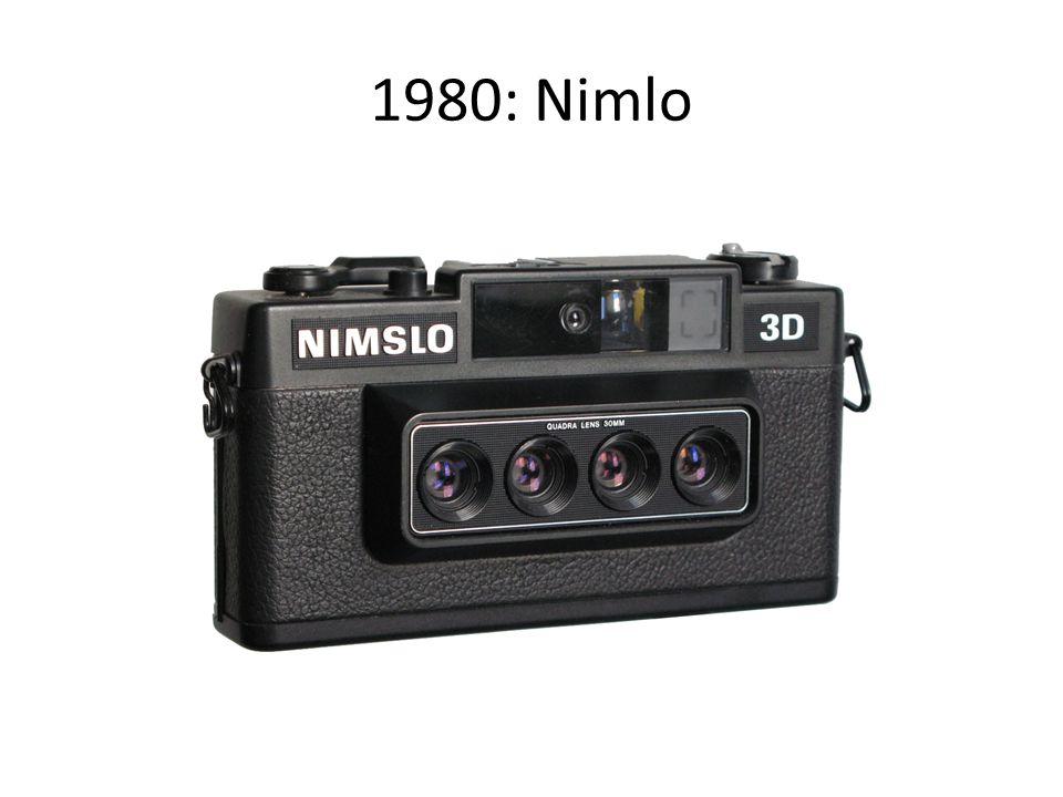 1980: Nimlo Un appareil original, produisant 4 vues 24x18mm pour des images sur support gaufré (support lenticulaire)