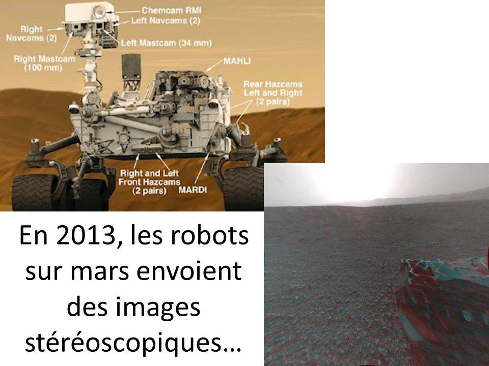 En 2013, les robots sur mars envoient des images stéréoscopiques…