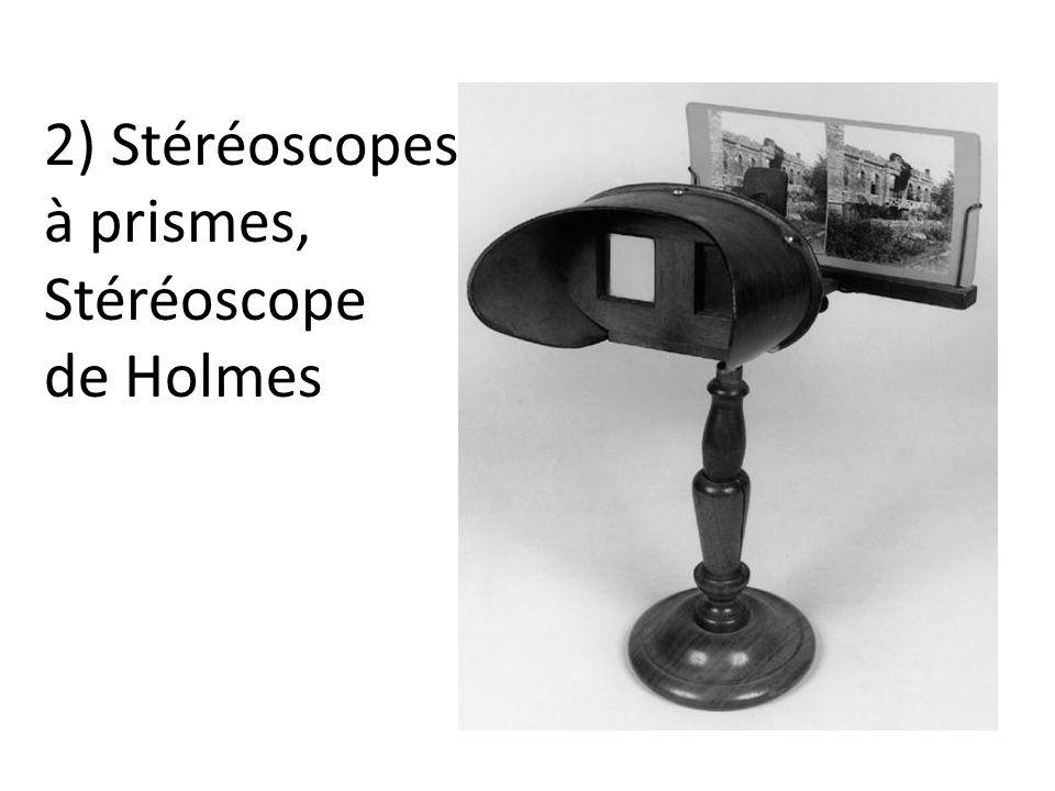 2) Stéréoscopes à prismes, Stéréoscope de Holmes Prismes Holmes