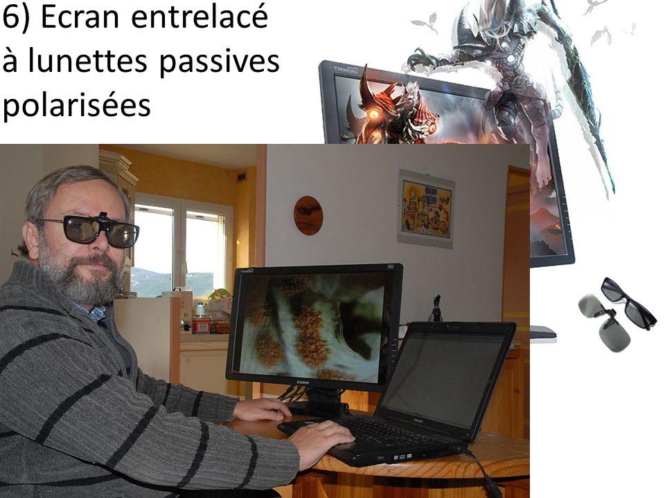 6) Ecran entrelacé à lunettes passives