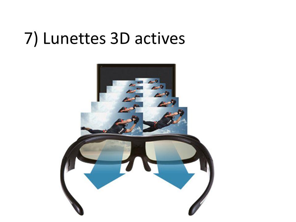 7) Lunettes 3D actives