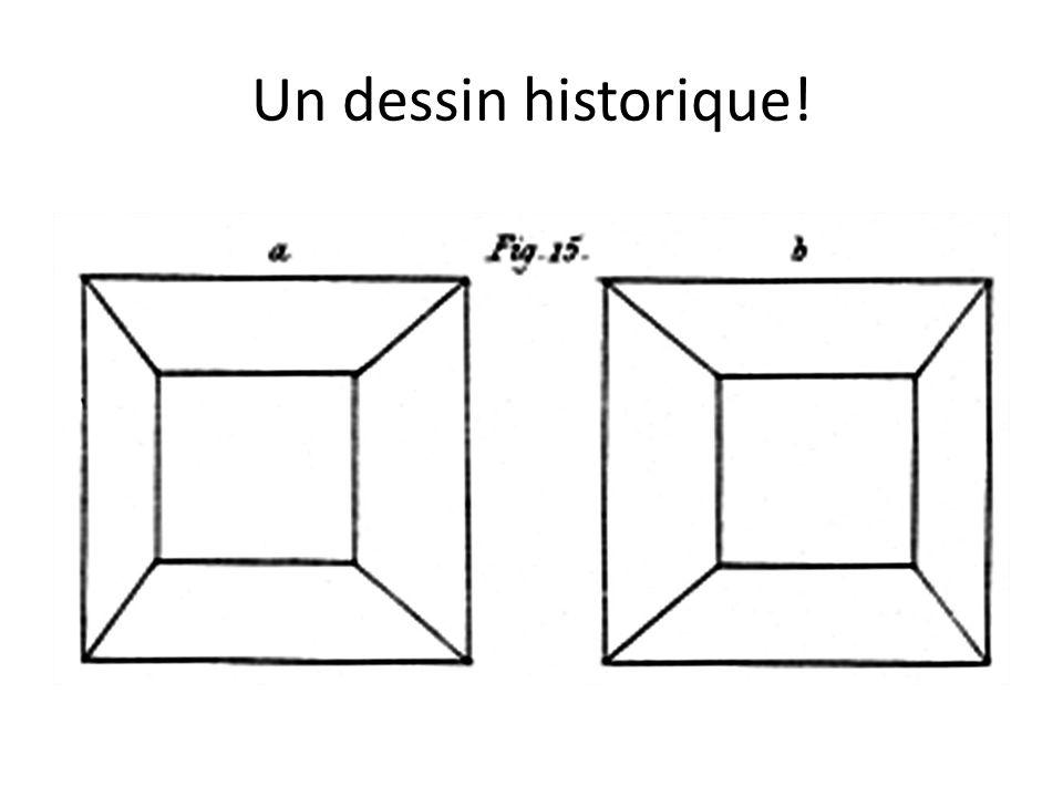 Un dessin historique! Un cube vu par chaque œil