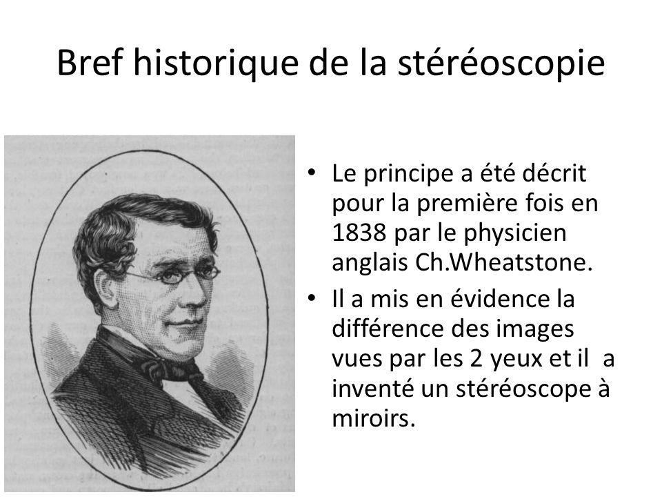 Bref historique de la stéréoscopie