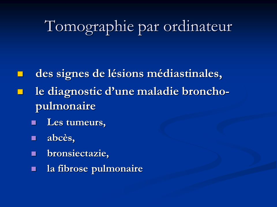 Tomographie par ordinateur