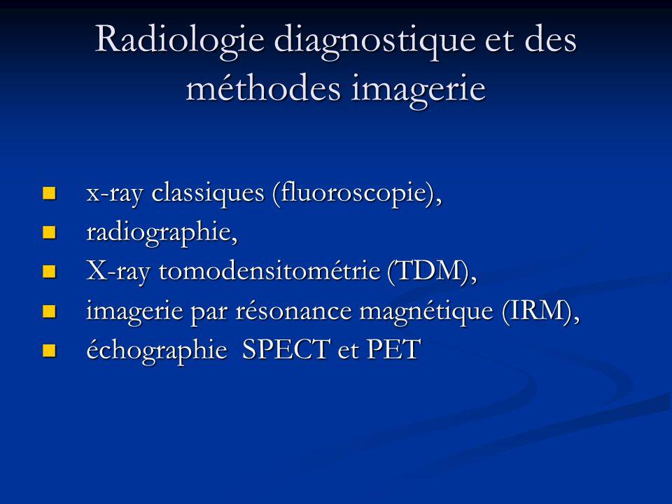 Radiologie diagnostique et des méthodes imagerie