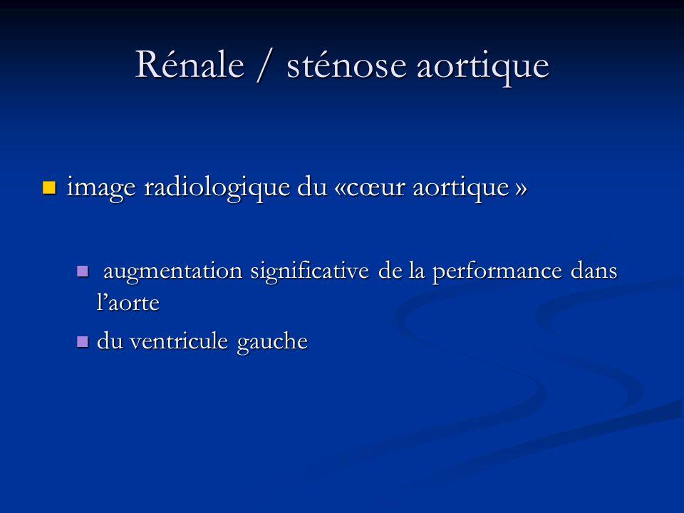 Rénale / sténose aortique
