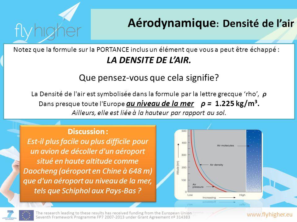 Aérodynamique: Densité de l'air
