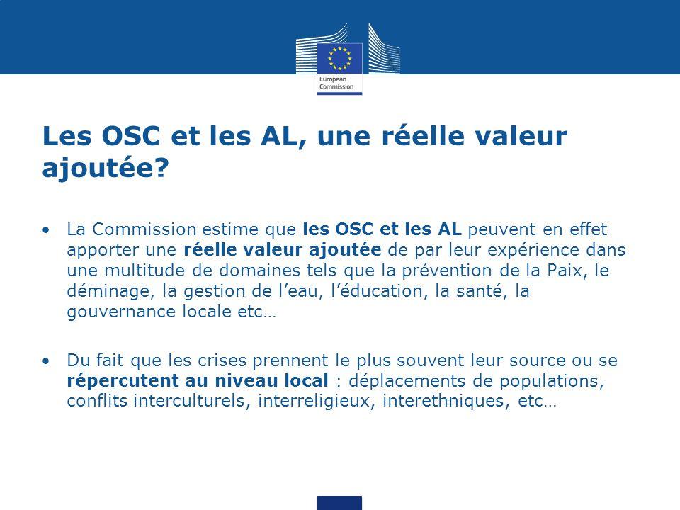 Les OSC et les AL, une réelle valeur ajoutée