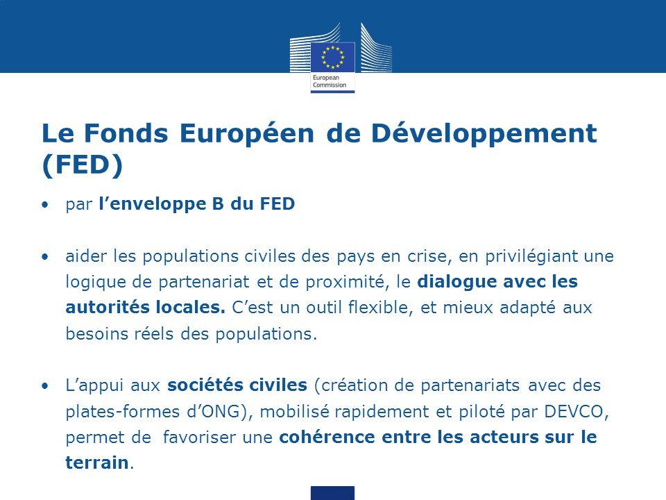 Le Fonds Européen de Développement (FED)