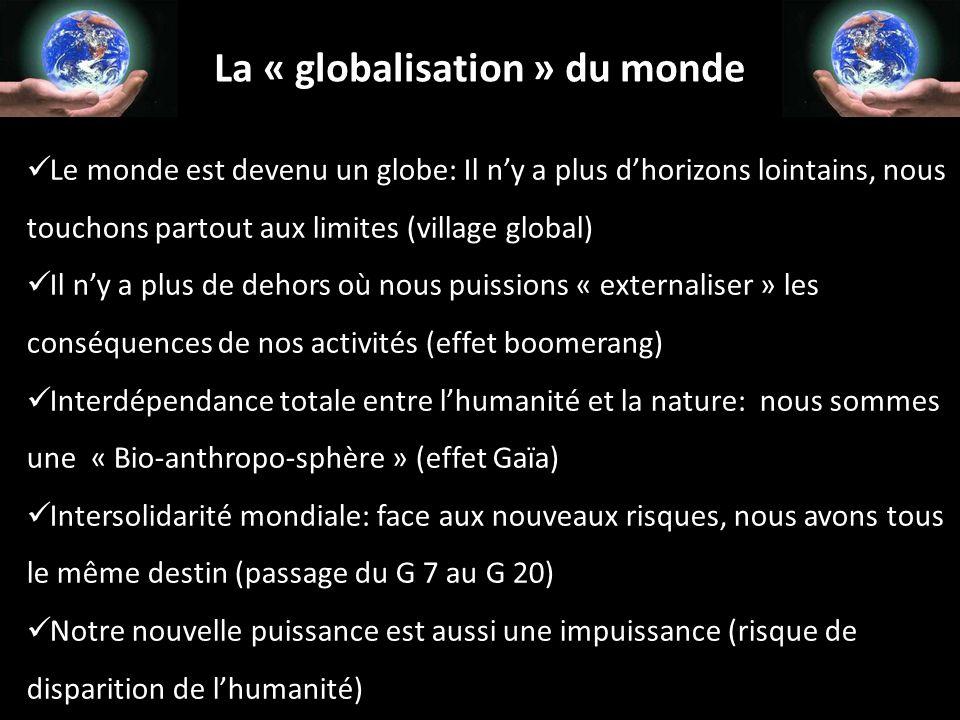 La « globalisation » du monde