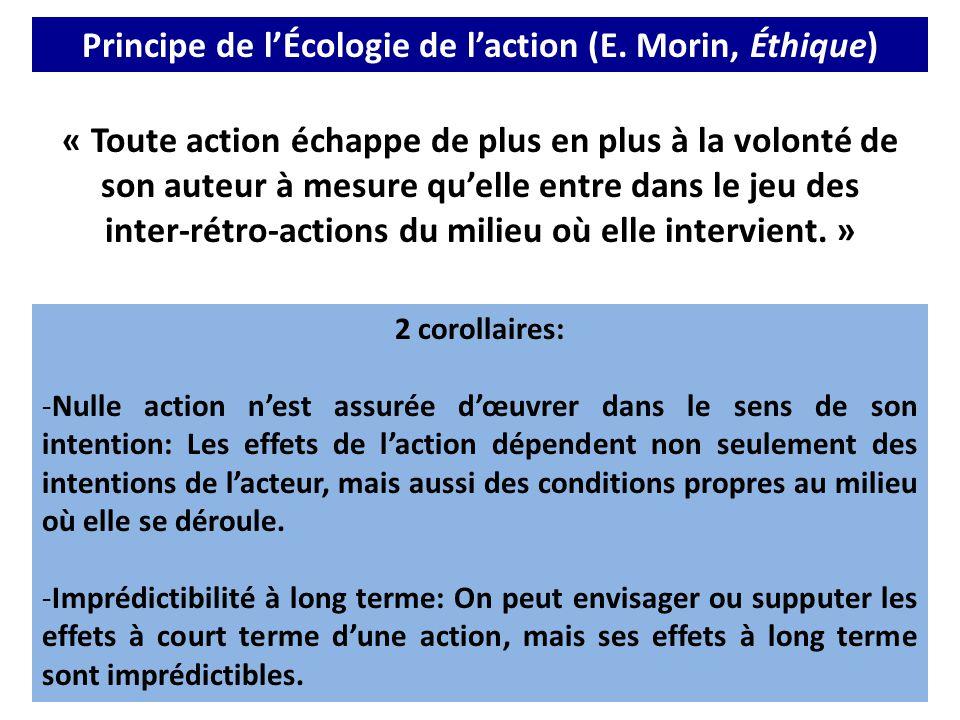 Principe de l'Écologie de l'action (E. Morin, Éthique)