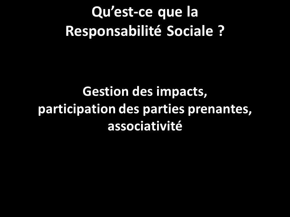 Qu'est-ce que la Responsabilité Sociale