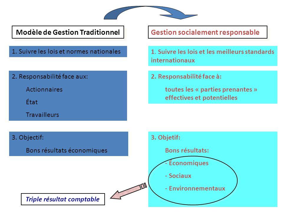 Modèle de Gestion Traditionnel Triple résultat comptable