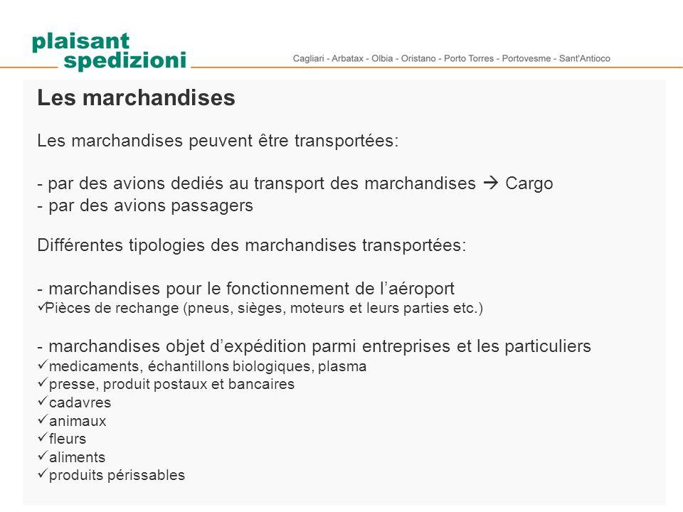 Les marchandises Les marchandises peuvent être transportées: