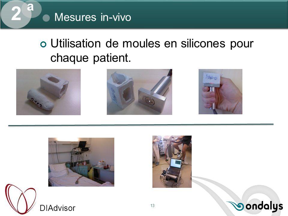 2 a Utilisation de moules en silicones pour chaque patient.