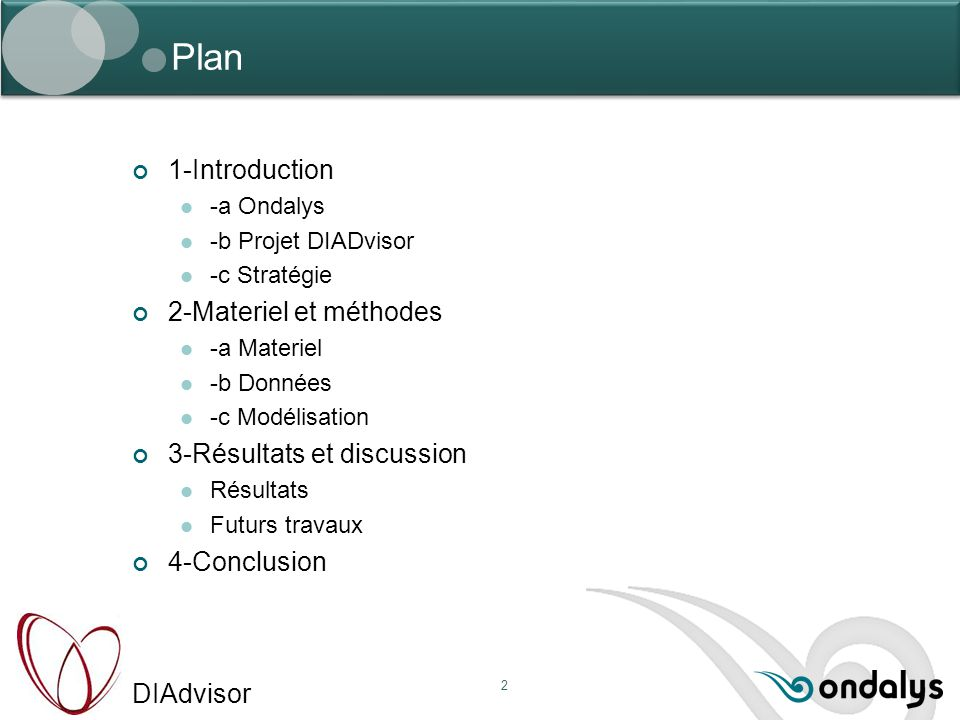 Plan 1-Introduction 2-Materiel et méthodes 3-Résultats et discussion