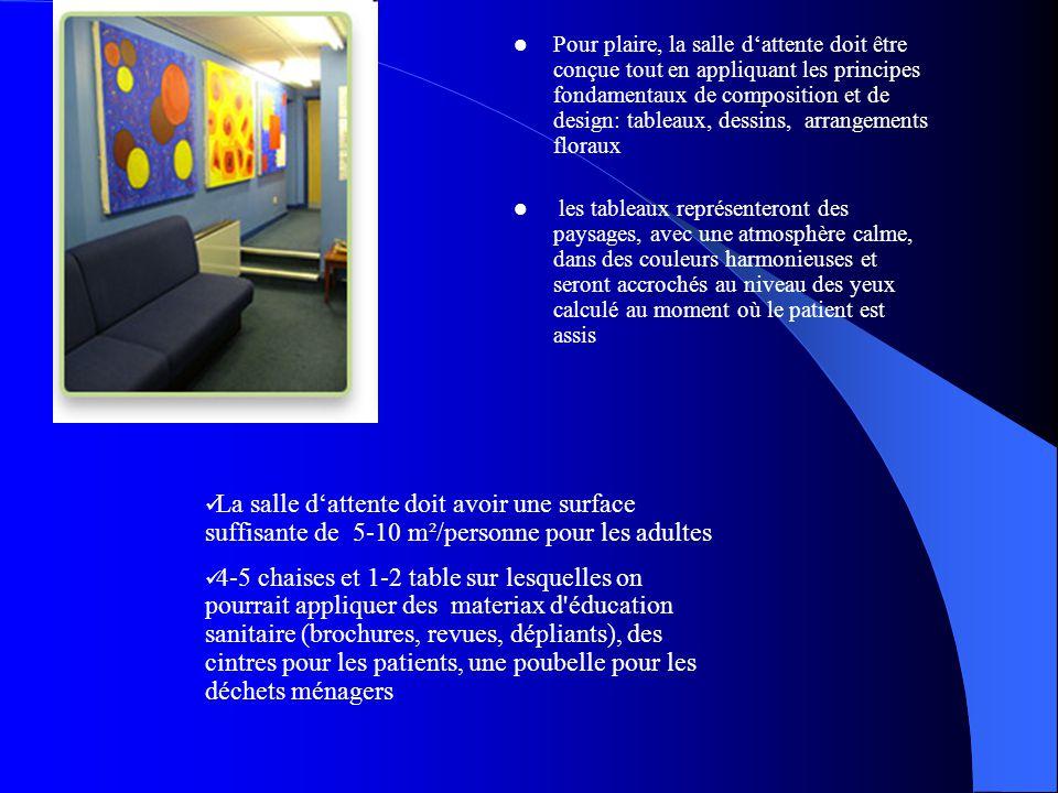 Pour plaire, la salle d'attente doit être conçue tout en appliquant les principes fondamentaux de composition et de design: tableaux, dessins, arrangements floraux
