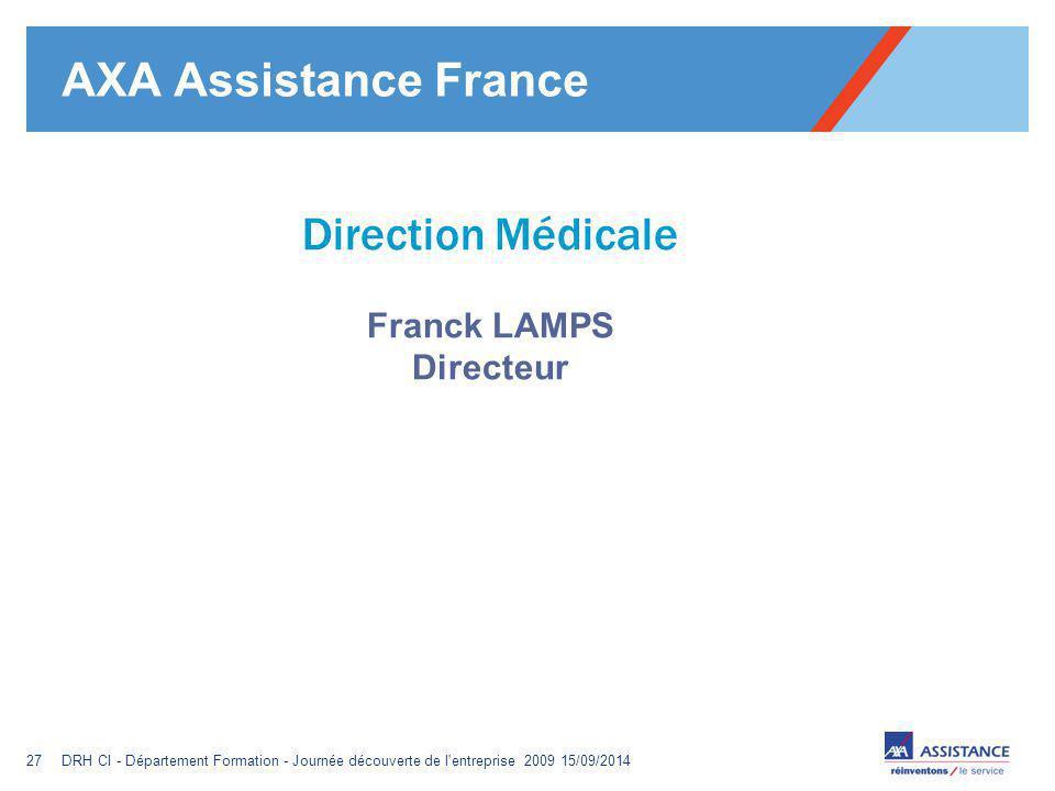 AXA Assistance France Direction Médicale Franck LAMPS Directeur