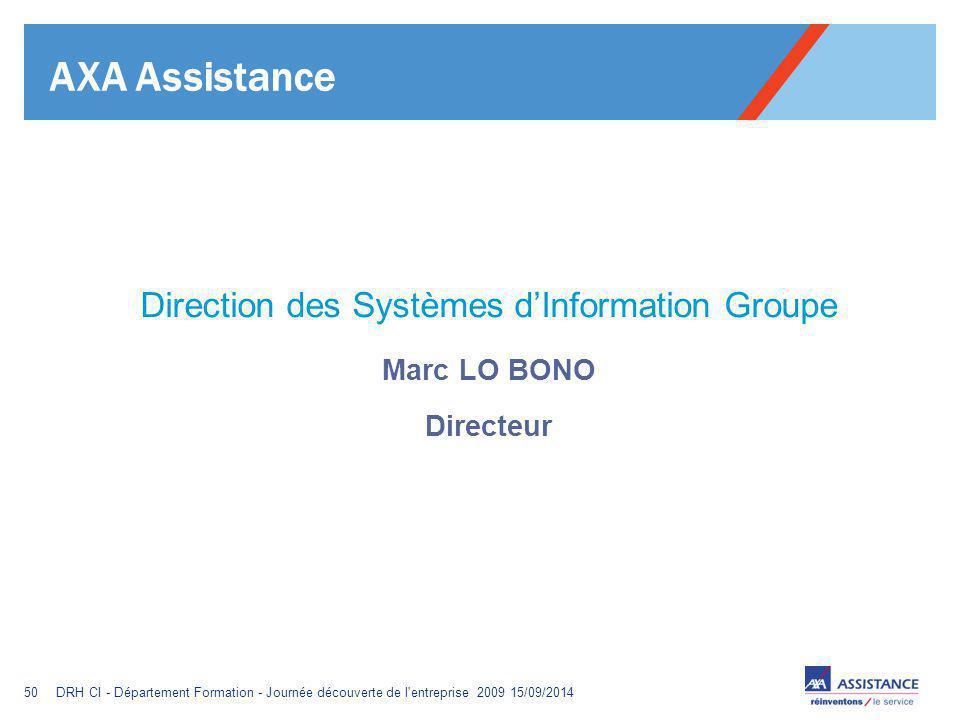 Direction des Systèmes d'Information Groupe