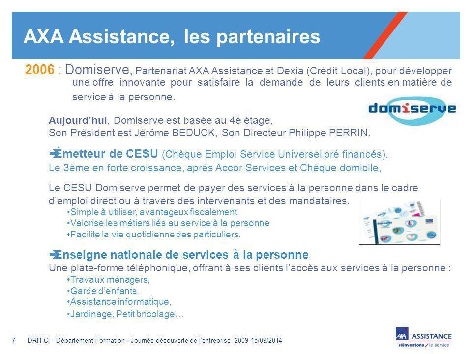 AXA Assistance, les partenaires
