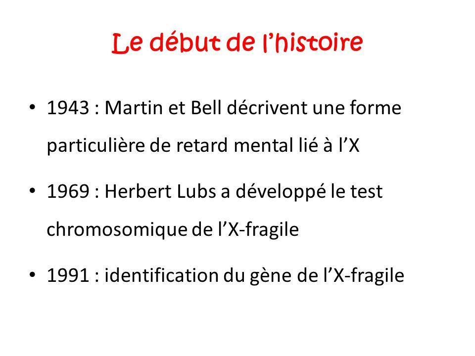 Le début de l'histoire 1943 : Martin et Bell décrivent une forme particulière de retard mental lié à l'X.