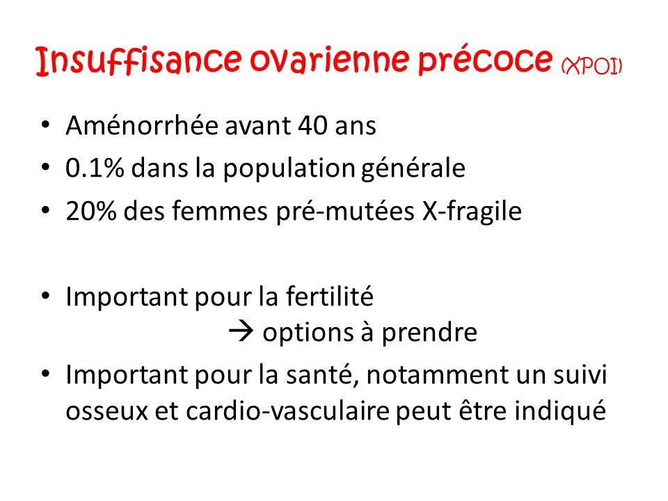 Insuffisance ovarienne précoce (XPOI)