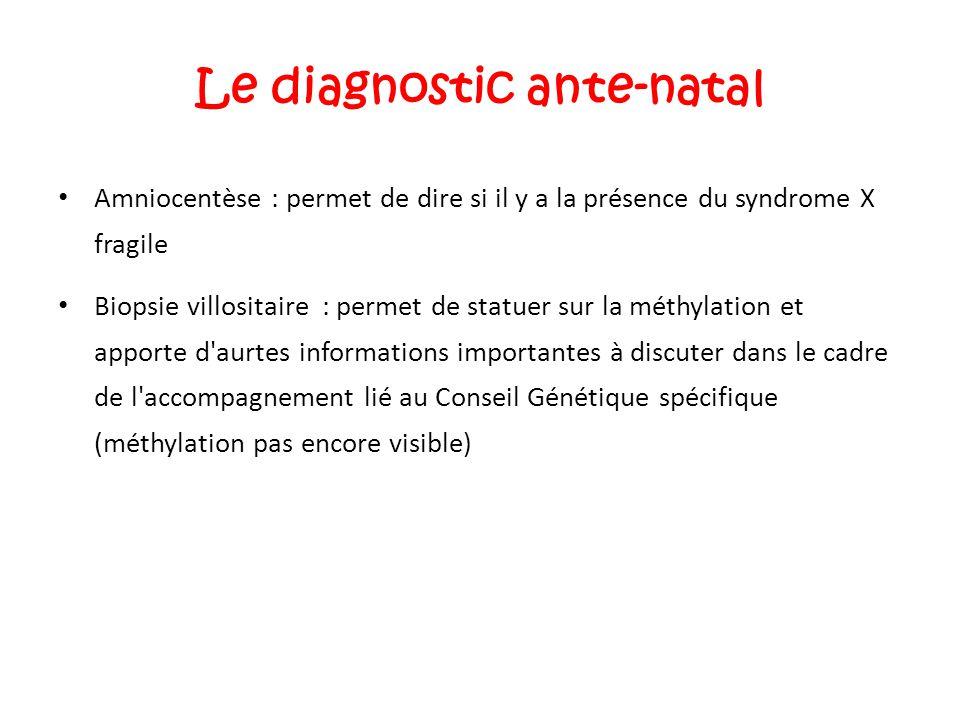 Le diagnostic ante-natal