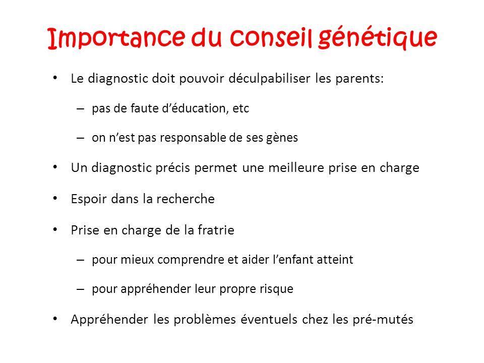 Importance du conseil génétique