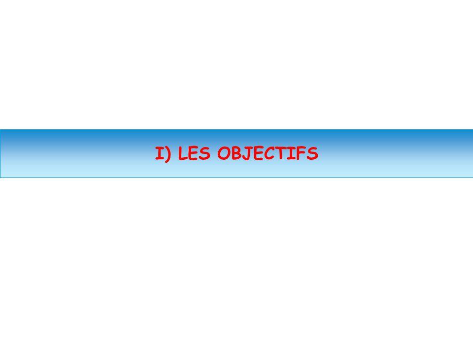 I) LES OBJECTIFS Spécial Réforme