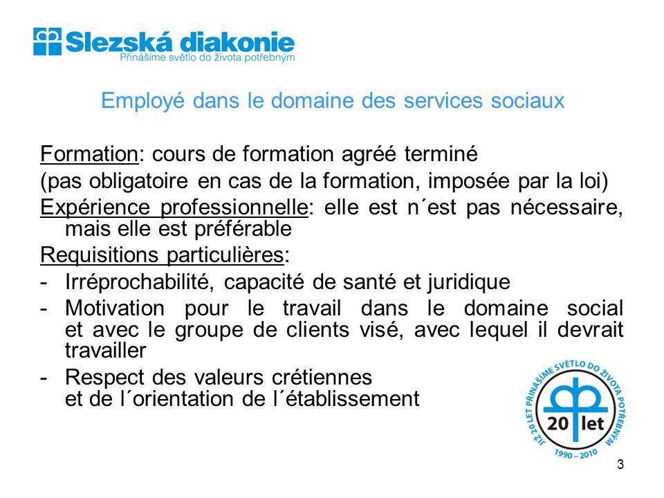 Employé dans le domaine des services sociaux