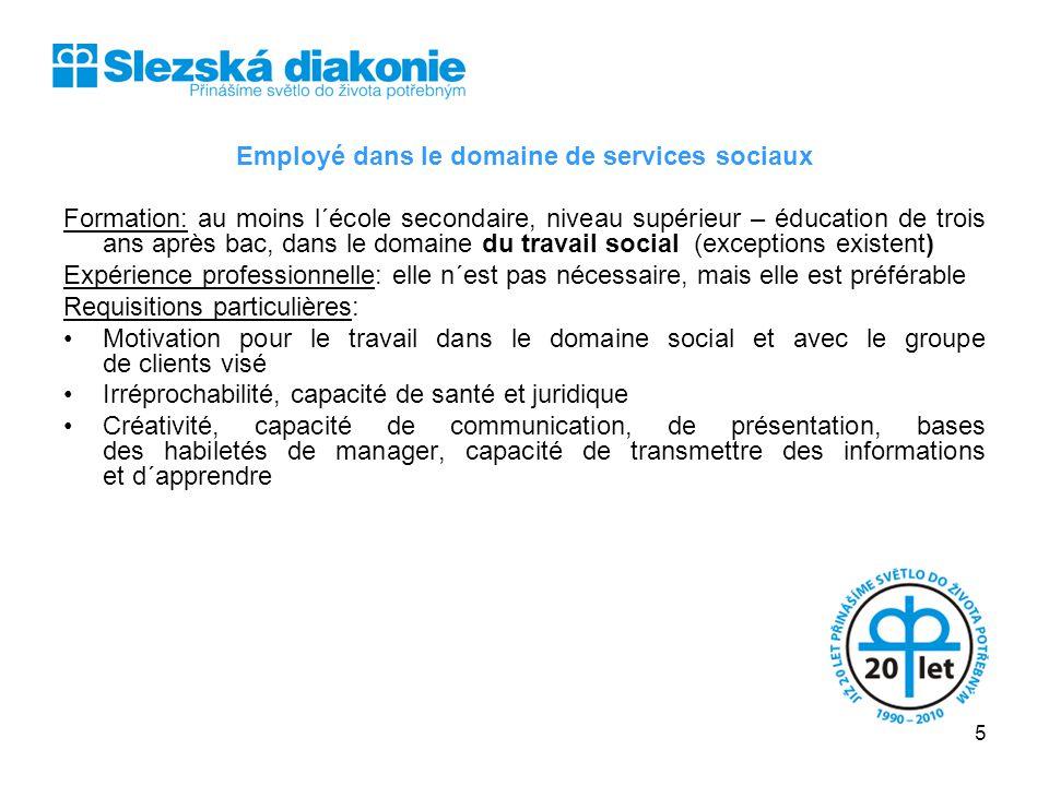 Employé dans le domaine de services sociaux