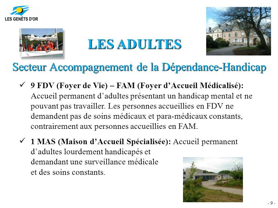 LES CHIFFRES DU SECTEUR Accompagnement de la Dépendance-Handicap