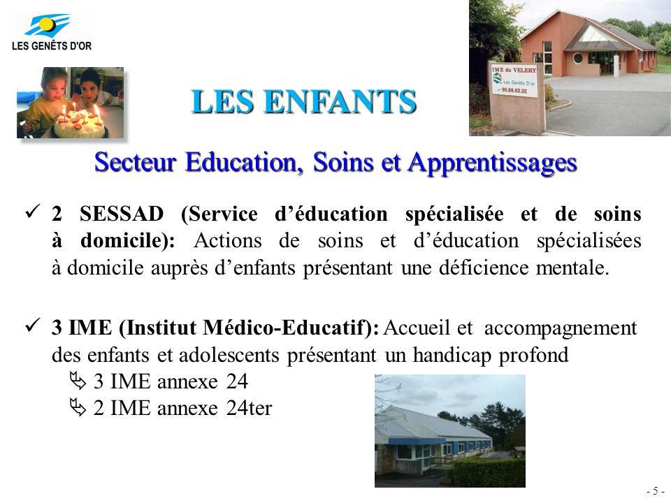 LES CHIFFRES DU SECTEUR Education, Soins et Apprentissages