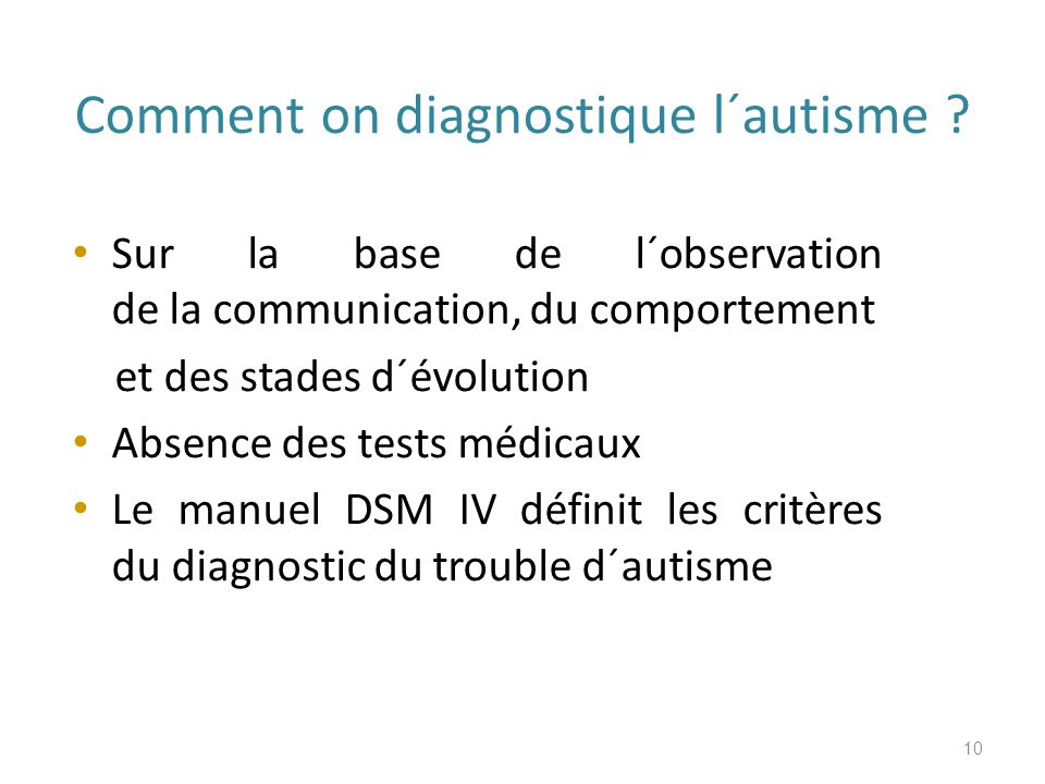 Comment on diagnostique l´autisme