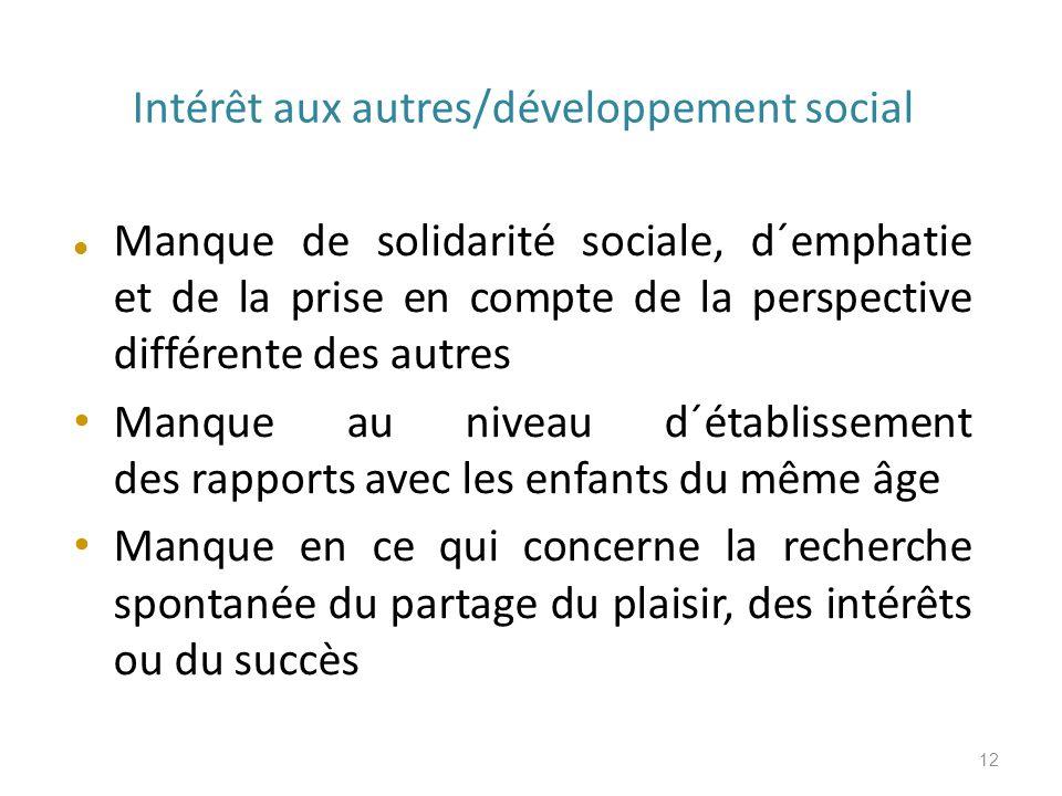 Intérêt aux autres/développement social