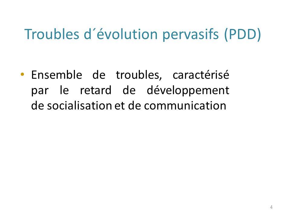 Troubles d´évolution pervasifs (PDD)