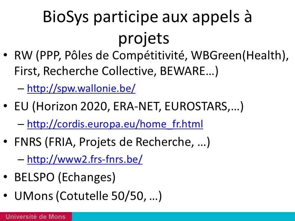 BioSys participe aux appels à projets