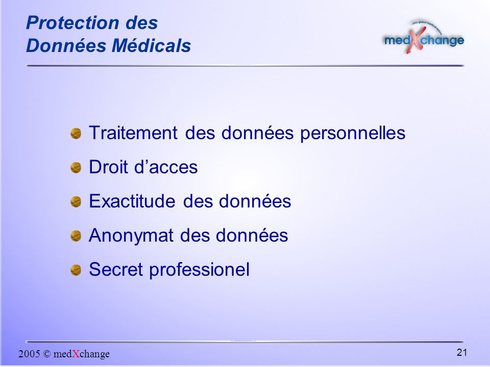 Protection des Données Médicals