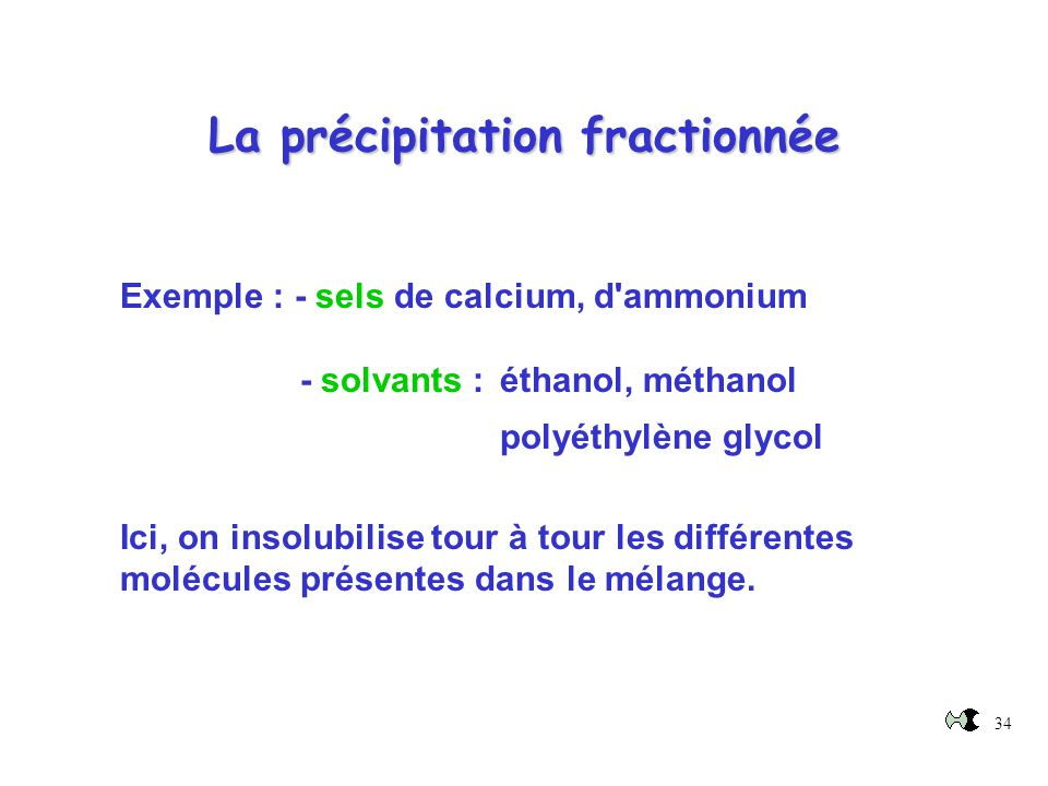 La précipitation fractionnée
