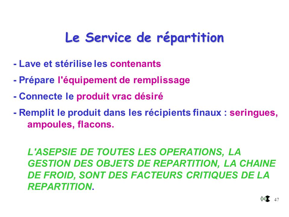 Le Service de répartition