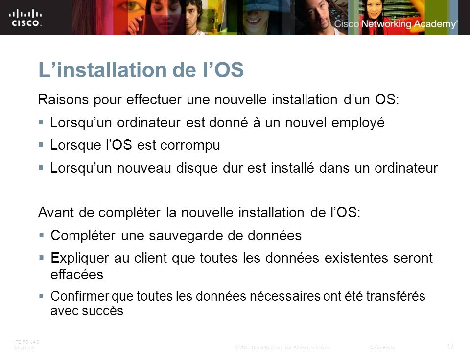 L'installation de l'OS